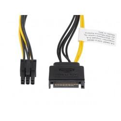Kabl napojni SATA(M) na PCI-E 6pin 20cm LANBERG CA-SA6P-10CU-0020