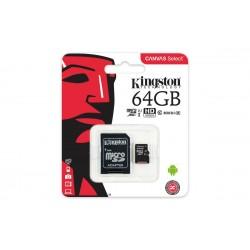 Kingston 64GB microSDXC Canvas 80R CL10 UHS-I