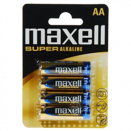 Maxell super alkalne baterije AA LR6 4 kom