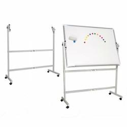 Dvostrana okretna tabla 100x150cm (piši-briši, magnetna, bijela)