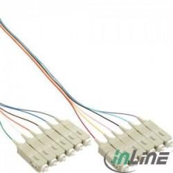 InLine® 12pcs Set Pigtail, SC 50/125µm, OM2, 2m