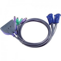 KVM Switch, 2-port, ATEN CS62, VGA, PS/2