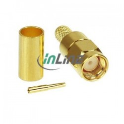 INLINE WLAN R-SMA male plug for RG58