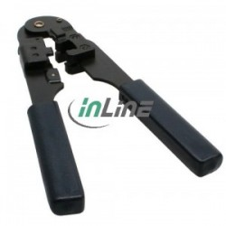 Crimp tool, InLine®, for RJ45 8P8C