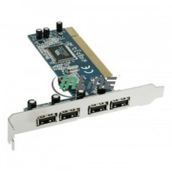 PCI USB 2.0 Host Controller Card ( 4-Ext, 1-Int. Ports)