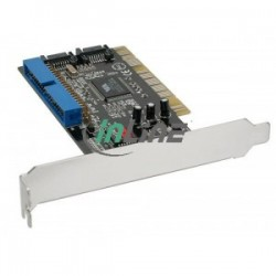 InLine®, 2x SATA+IDE Controller Card with RAID, PCI