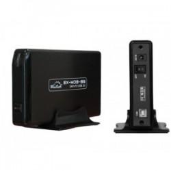 "Ext Case 3.5"" USB 2.0 black for SATA HDD EX-MOB-86"