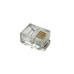 Solarix modularni konektor 6p4c RJ11 za ravni kabl