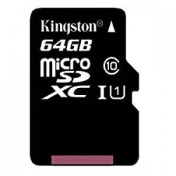Kingston 64GB microSDXC kartica klase 10 UHS-I 45MB/s sa SD adapterom (SDC10G2/64GB)
