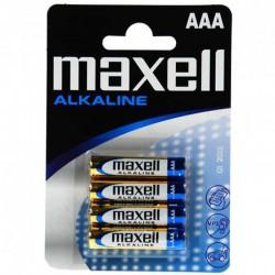 Baterije AAA MAXELL alkalne 4 kom (LR03, 1.5V)