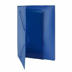 Fascikla 30mm sa gumicama, plava, plastična