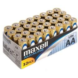 Baterije AA MAXELL alkalne 32 kom (LR6, 1.5V)