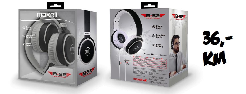 MAXELL B52 slušalice crno-bijele