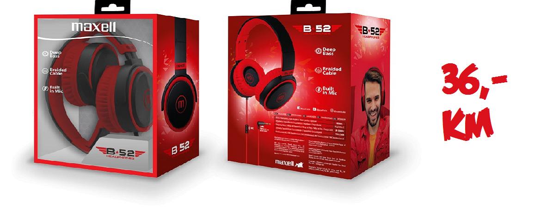 MAXELL B52 slušalice crveno-crne